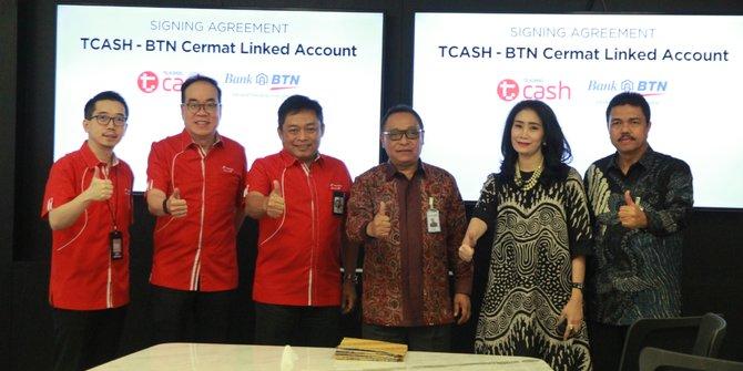 Kembangkan Keuangan Inklusif, BTN-Telkomsel Luncurkan TCASH-BTN Cermat