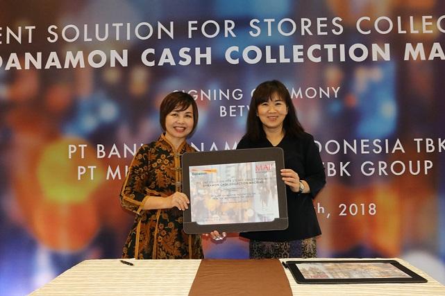 Bank Danamon Luncurkan Danamon Cash Collection Machine untuk Mitra Adiperkasa
